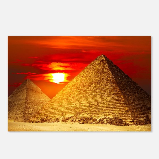 Egyptian Pyramids At Sunset Postcards (Package of