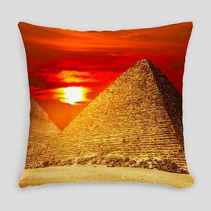 Egyptian Pyramids At Sunset Everyday Pillow