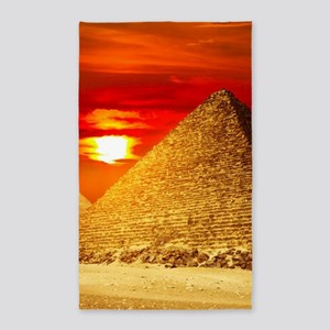 Egyptian Pyramids At Sunset Area Rug