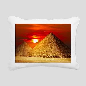 Egyptian Pyramids At Sunset Rectangular Canvas Pil