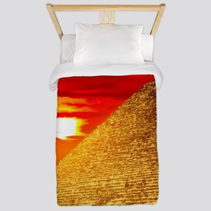 Egyptian Pyramids At Sunset Twin Duvet