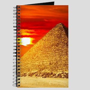 Egyptian Pyramids At Sunset Journal
