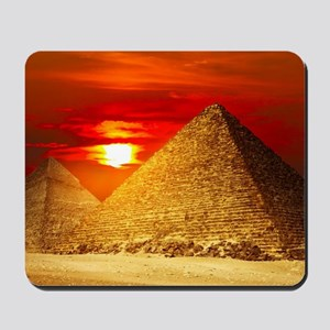 Egyptian Pyramids At Sunset Mousepad