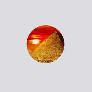Egyptian Pyramids At Sunset Mini Button