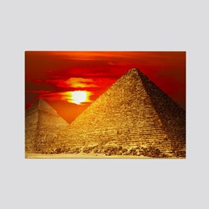Egyptian Pyramids At Sunset Magnets