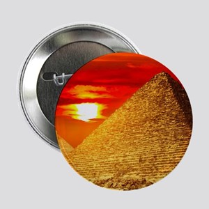 "Egyptian Pyramids At Sunset 2.25"" Button (10 pack)"