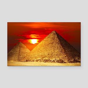 Egyptian Pyramids At Sunset Rectangle Car Magnet
