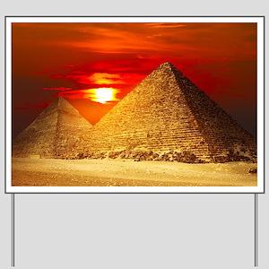 Egyptian Pyramids At Sunset Yard Sign