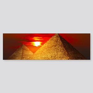 Egyptian Pyramids At Sunset Bumper Sticker