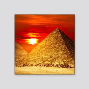 Egyptian Pyramids At Sunset Sticker