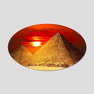 Egyptian Pyramids At Sunset Wall Decal