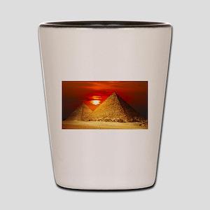 Egyptian Pyramids At Sunset Shot Glass