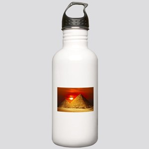 Egyptian Pyramids At Sunset Water Bottle