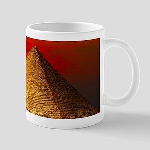 Egyptian Pyramids At Sunset Mugs