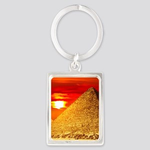 Egyptian Pyramids At Sunset Keychains