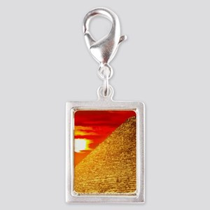 Egyptian Pyramids At Sunset Charms