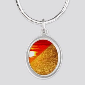 Egyptian Pyramids At Sunset Necklaces