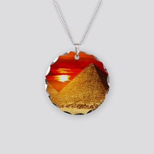 Egyptian Pyramids At Sunset Necklace