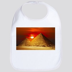 Egyptian Pyramids At Sunset Bib