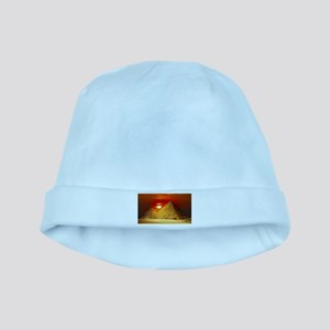 Egyptian Pyramids At Sunset baby hat