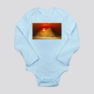 Egyptian Pyramids At Sunset Body Suit