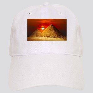 Egyptian Pyramids At Sunset Baseball Cap