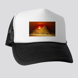 Egyptian Pyramids At Sunset Trucker Hat