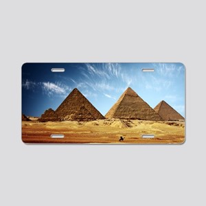 Egyptian Pyramids and Camel Aluminum License Plate