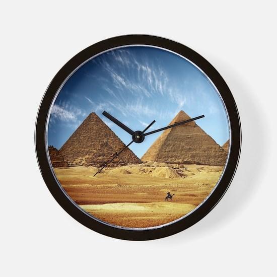 Egyptian Pyramids and Camel Wall Clock