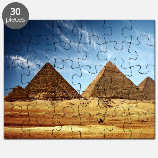 Egyptian Pyramids and Camel Puzzle
