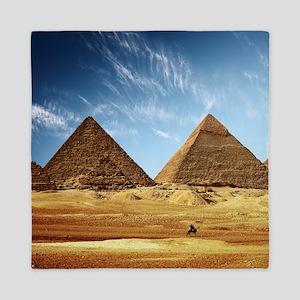 Egyptian Pyramids and Camel Queen Duvet