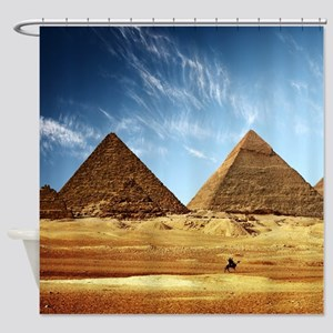 Egyptian Pyramids and Camel Shower Curtain