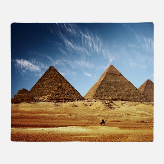 Egyptian Pyramids and Camel Throw Blanket