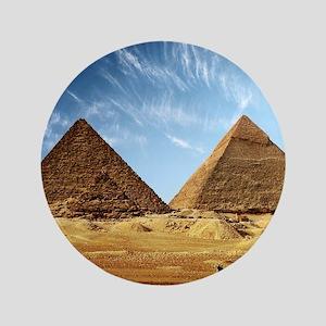 Egyptian Pyramids and Camel Button