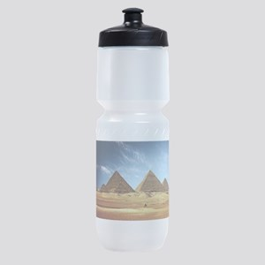 Egyptian Pyramids and Camel Sports Bottle