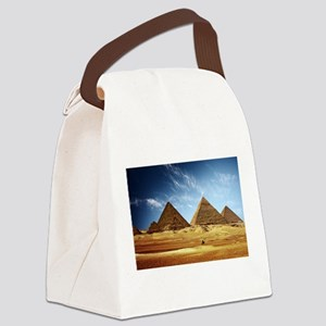 Egyptian Pyramids and Camel Canvas Lunch Bag