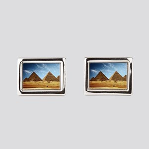 Egyptian Pyramids and Camel Rectangular Cufflinks
