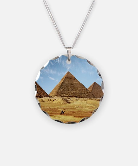 Egyptian Pyramids and Camel Necklace