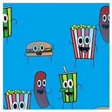 movie popcorn Poster