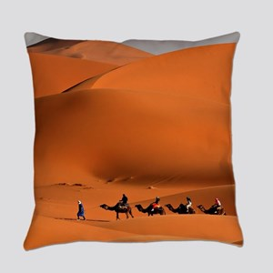Camel Caravan In The Desert Everyday Pillow