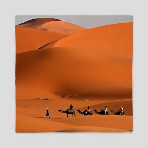 Camel Caravan In The Desert Queen Duvet