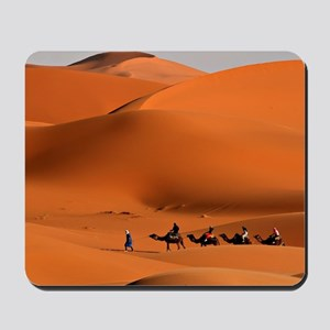 Camel Caravan In The Desert Mousepad