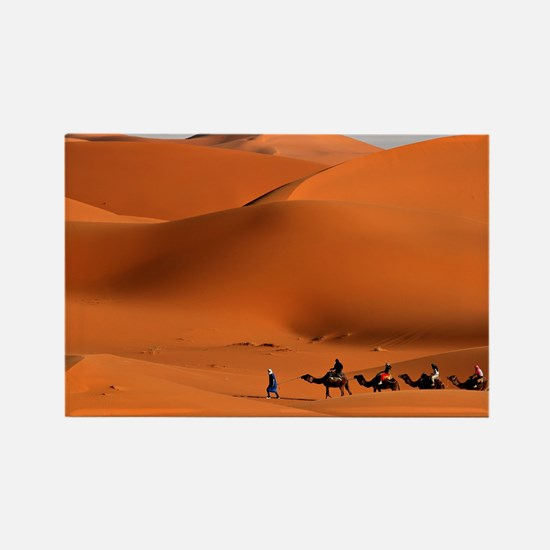 Camel Caravan In The Desert Magnets