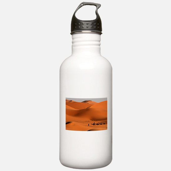 Camel Caravan In The Desert Water Bottle