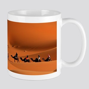 Camel Caravan In The Desert Mugs