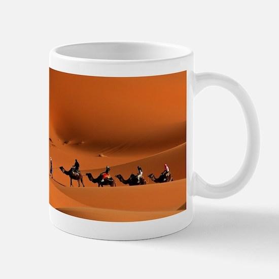 Camel Caravan In The Desert Mugs