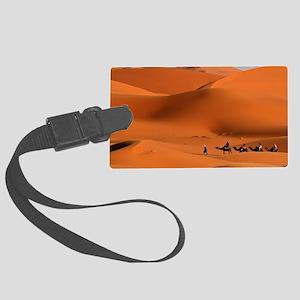 Camel Caravan In The Desert Luggage Tag