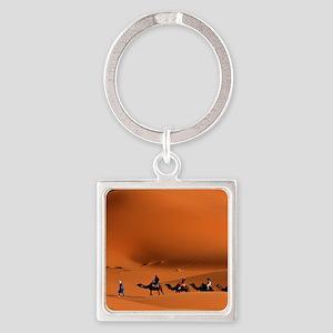 Camel Caravan In The Desert Keychains