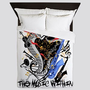 Musical Instruments Band Colorful by J Queen Duvet