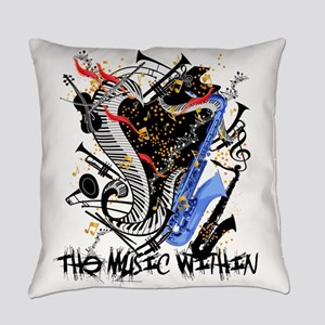 Musical Instruments Band Colorful Everyday Pillow